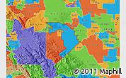 Political Map of ZIP code 95304