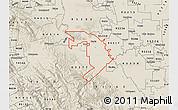 Shaded Relief Map of ZIP code 95304