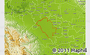 Physical Map of ZIP code 95358