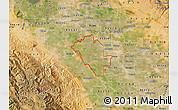Satellite Map of ZIP code 95358