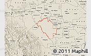Shaded Relief Map of ZIP code 95358