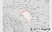 Silver Style Map of ZIP code 95358