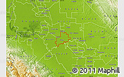 Physical Map of ZIP code 95366