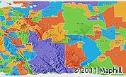 Political 3D Map of ZIP code 95391