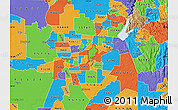 Political Map of ZIP code 95608