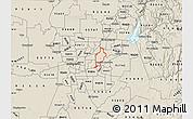 Shaded Relief Map of ZIP code 95608