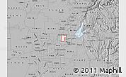 Gray Map of ZIP code 95610