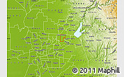 Physical Map of ZIP code 95610