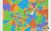 Political Map of ZIP code 95610