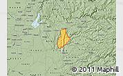 Savanna Style Map of ZIP code 95623
