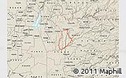 Shaded Relief Map of ZIP code 95623