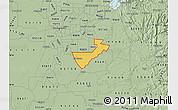 Savanna Style Map of ZIP code 95624