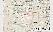 Shaded Relief Map of ZIP code 95624