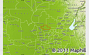 Physical Map of ZIP code 95626