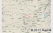 Shaded Relief Map of ZIP code 95626