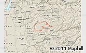 Shaded Relief Map of ZIP code 95629