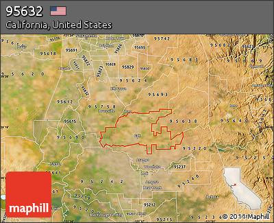 Satellite Map of ZIP Code 95632
