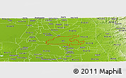 Physical Panoramic Map of ZIP code 95632