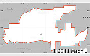Gray Simple Map of ZIP code 95632