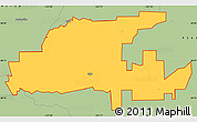 Savanna Style Simple Map of ZIP code 95632