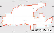 Silver Style Simple Map of ZIP code 95632, cropped outside