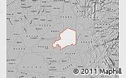 Gray Map of ZIP code 95638