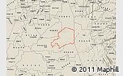 Shaded Relief Map of ZIP code 95638
