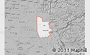 Gray Map of ZIP code 95640