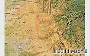 Satellite Map of ZIP code 95640
