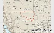 Shaded Relief Map of ZIP code 95645