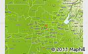 Physical Map of ZIP code 95652