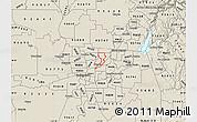 Shaded Relief Map of ZIP code 95660