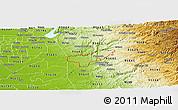 Physical Panoramic Map of ZIP code 95669