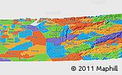 Political Panoramic Map of ZIP code 95669
