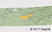 Savanna Style Panoramic Map of ZIP code 95669