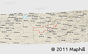 Shaded Relief Panoramic Map of ZIP code 95669