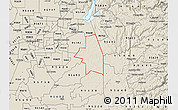 Shaded Relief Map of ZIP code 95683