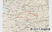 Shaded Relief Map of ZIP code 95684