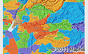 Political Map of ZIP code 95709