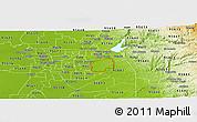Physical Panoramic Map of ZIP code 95742