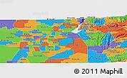 Political Panoramic Map of ZIP code 95742