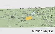 Savanna Style Panoramic Map of ZIP code 95742