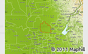 Physical Map of ZIP code 95747