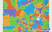 Political Map of ZIP code 95747