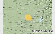Savanna Style Map of ZIP code 95747