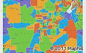 Political Map of ZIP code 95817