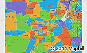 Political Map of ZIP code 95821