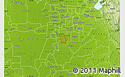 Physical Map of ZIP code 95823