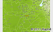 Physical Map of ZIP code 95824