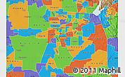 Political Map of ZIP code 95824